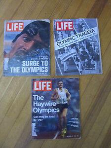 Life Magazine 8/18, 9/15, 9/22 1972 Munich Olympics before & After