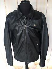 Harley Davidson Vintage Leather Black Motorcycle Jacket Men's Large