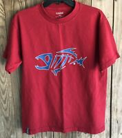 G. Loomis Men's Medium Tshirt Red Short Sleeve Fishing Cotton