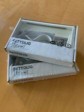Ikea Betydlig White Curtain Rod Holder Wall Bracket 302.198.89 Lot of 2