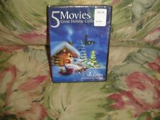 5 Movies Great Holiday Collection (DVD) Includes 10 Holiday Songs   NEW