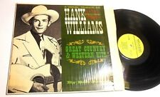 A Vocal Tribute To Hank Williams Sr Great Country & Western Hits by Bob Jones LP