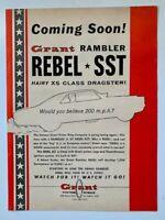 Grant Rambler Rebel SST 200 MPH 1967 Grant Piston Rings Print Ad