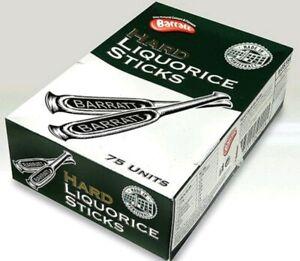 FULL BOX 75 SWEETS BOX Included BASSETTI/BARRATT HARD LIQUORICE STICKS