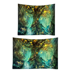 Large Psychedelic Tree Tapestry Galaxy Wall Hanging Art Bedspread Dorm Decor