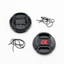2X 40.5mm Center-Pinch Snap-On Front Lens Cap For Sony etc DSLR Lens With Cord
