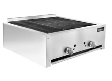 New 30 Lava Rock Char Broiler Grill 2 Burner 80k Btu Nsf Connerton Lrb 30 6526