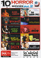 10 HORROR MOVIES VOL 2-  3 DVD - Blood Sabbath-Lady Frankenstein-Vincent Price