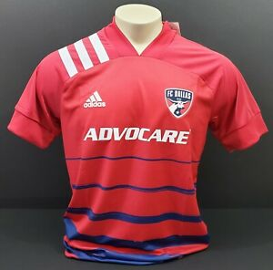 Adidas FC Dallas Authentic Home Jersey 20/21, Red/Navy/White, Size M