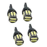 4X T10 7020SMD 10 LED W5W Wedge Tail Side Car Lights Turn  Bulbs 12V White H2T8