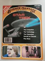 """SCIENCE FANTASY FILM CLASSICS Mag #3 July 1978 STAR TREK! WITH 22"""" x 32"""" POSTER"""