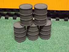 G SCALE 55 gallon  oil drums army green 1/24 SCALE SET 0F 5 green army oil drums