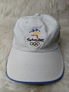 vtg 2000 Sydney Australia Olympics Authentic Hat Snapback Cap White Made In USA