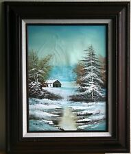 "Vintage Signed W. Rinyo ""Winter World"" Oil Painting w/COA - Frame 19""x23"""