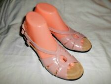 NWOB Hush Puppies Soft Style Womens Pink Slingback Sandals Patent Leather sz.8N