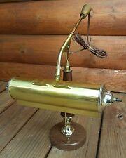 Repurposed Table Lamp Steampunk Retro Banker Adjustable Wood Metal Guitar