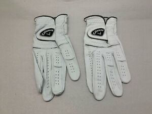 NEW Callaway  Leather Golf Gloves White - Pick Size !
