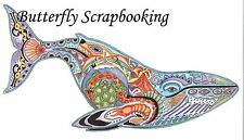 BLUE WHALE Animal Spirit Cling Unmounted Rubber Stamp EARTH ART Sue Coccia New