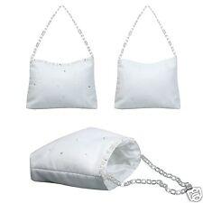 Girls White Purse Handbag Pearls for 1st Communion Bridal Wedding Flower Girl
