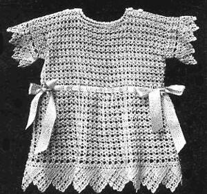 Antique/Vintage Baby Dress Crochet PATTERN (Fine thread)
