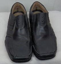 Skechers Citywalk Grazer mens black leather casual slid-on Shoes size 9