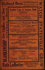 STATESVILLE CITY DIRECTORY North Carolina 17 vintage old genealogy research