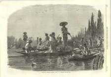 1866 Messicani Indiani tenendo Mercato della Frutta da Fiume