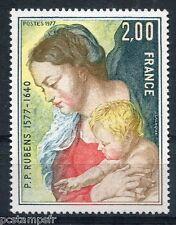 TABLEAU, ART, FRANCE 1977, timbre 1958, P. P. RUBENS, LA VIERGE..., neuf**