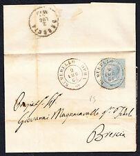 STORIA POSTALE Regno 1864 Piego 15c da Remedello per Brescia (FB5)