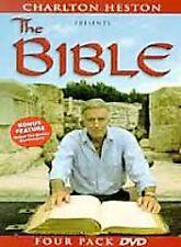 Charlton Heston Presents the Bible 4 DVD Set 2001 Genesis Moses Jesus Passion