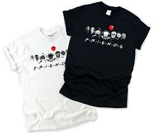 Halloween Horror Characters Friends T-Shirt Pennywise Freddy Jason Leather Face