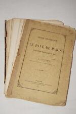 LE PAVE DE PARIS DEPUIS PHILIPPE AUGUSTE-DUPAIN 1881