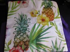 Decorative Tropical with Pineapple Pillow Cover 18x18