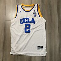Lonzo Ball UCLA White Adidas Stitched Numbers Jersey Men's Large