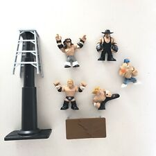 5 Mattel WWE Wrestling Rumblers Mini Figure Lot 2010-2011 With Latter And Table