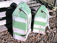 New ListingTwo Maine Lobster buoys, Nautical Decor, Wooden Decorative Buoys, Fishing Buoys