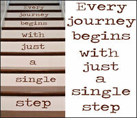 Stair Stickers Every Journey Begins With Single Step Cut Matt Vinyl Decal