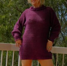 VINTAGE Boho 1970s-80s Original GroovySlouch Hand Crochet Knit Wool Sweater