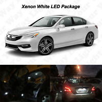 14 x White LED Interior Reverse Tag Lights Package Kit For 2013-2016 2017 Accord