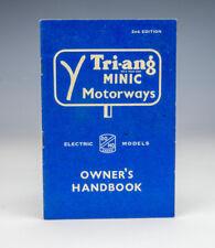 Tri-ang Minic Motorways - 2nd Edition - Owner's Handbook