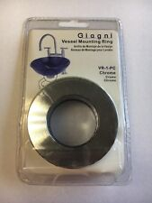 Lot of 2 Giagni Vessel Mounting Ring Vr-1-Pc Chrome