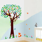 Cartoon Monkey Tree Wall Stickers Kid Room Decor Vinyl Art Mural Removable Decal