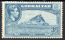 GIBRALTAR KG VI 1938-51 3d. Light Blue Wmk Scipt CA SG 125 MINT