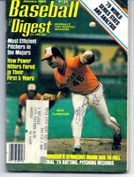 Baltimore Orioles MIKE FLANAGAN autograph signed auto Baseball Digest 1979 CY