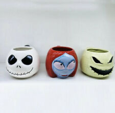 More details for nightmare before christmas jack sally oogie boogie coffee cup mugs set