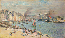 French Port of Le Havre 75cm x 44cm by Claude Monet High Quality Canvas Print