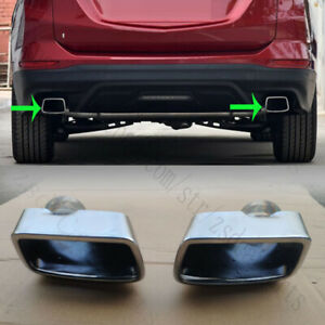 2x For Chevrolet Equinox 2017-2018 Rear Bumper LH+RH Stainless steel Tail Throat