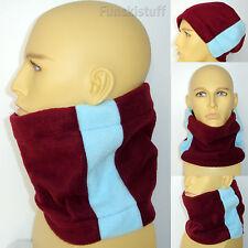 Burnley Maroon claret blue football neck warmer ski scarf snood mens ladies M