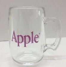 "Apple Computer Beer Mugs Rare with Purple Logo Acrylic Cup 5"" Vintage USA Made"