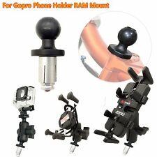 Motorcycle Bike Fork Stem Metal Base w/ Ball for Gopro Phone Holder RAM Mount